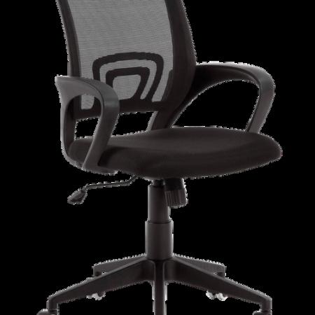Bild på Skrivbordsstol EBOR svart stomme/svart tyg - Kave Home