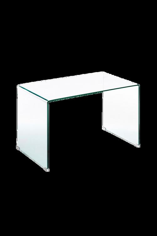 Bild på Skrivbord BURANO 125x70 transparent glas - Kave Home