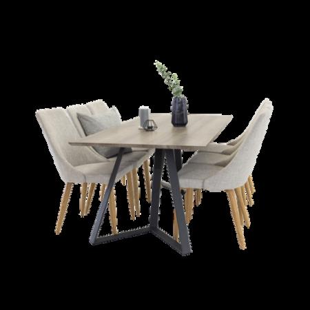 Bild på Maggie Matbord + Linnea stol (6-pack) - Homeroom