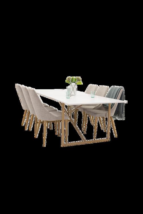 Bild på Pinner Bord  / Ek  + Linnea stol (6-pack) - NORDFORM