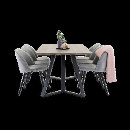 Bild på Maggie Matbord och 6 st Velvet stol - Homeroom