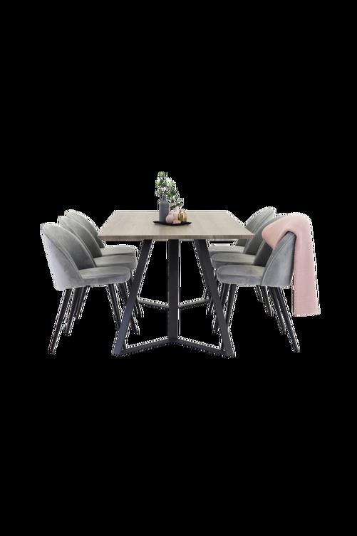 Bild på Maggie Matbord och 6 st Velvet stol - NORDFORM
