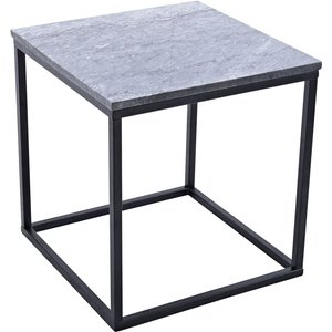Accent sidobord 50 - Grå marmor / Svart underrede -Marmorbord - Bord