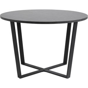 Amble runt matbord Ø110 cm - Svart/Marmor -Matbord - Bord