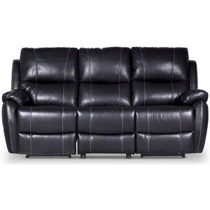 Enjoy Chicago reclinersoffa (Biosoffa) - 3-sits (el) i svart konstläder -Biosoffor & Reclinersoffor - Soffor