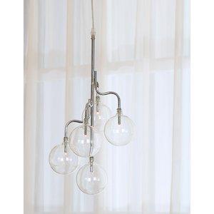 Globe taklampa - Krom / Glas -Taklampor - Lampor