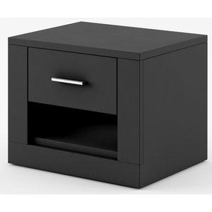 Mervyn sängbord - Svart -Sängbord - Sovrumsmöbler