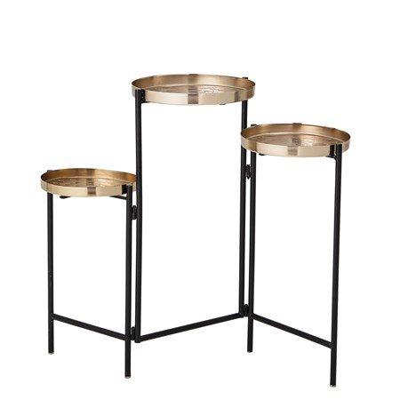 Amie Pedestal Guld Metall - Bloomingville - bild