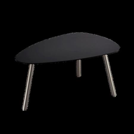 Bild på Soffbord svart ovalt Malou 88 x 62 x 40 cm - Homeroom