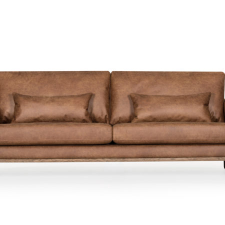 Bild på STOCKHOLM Leather 3-sits Cognac från SoffaDirekt