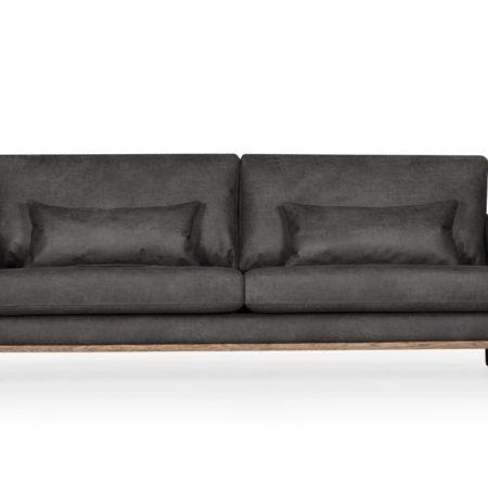 Bild på STOCKHOLM Leather 3-sits Antracit från SoffaDirekt