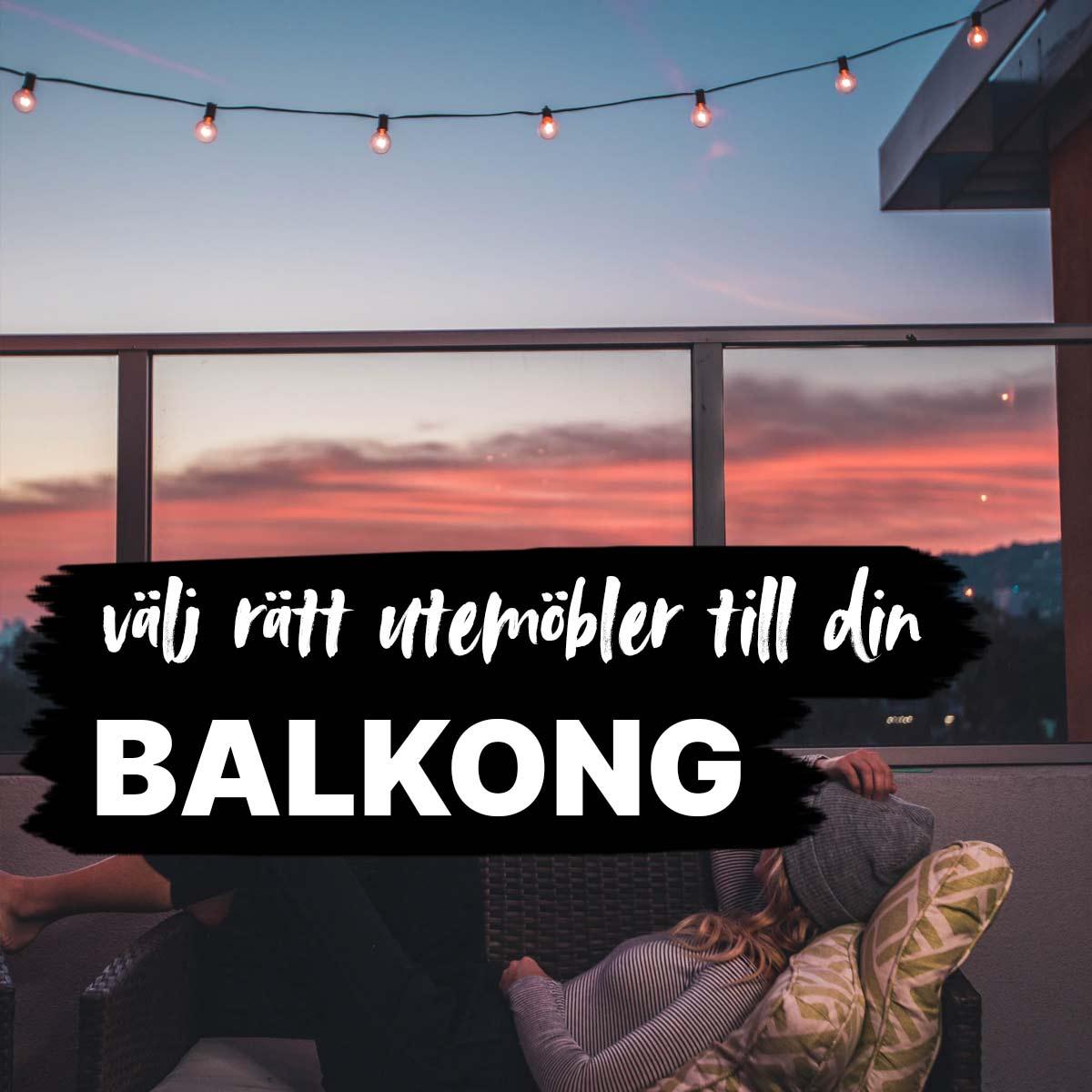 Utemöbler balkong