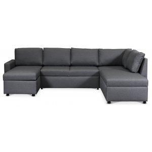 Dream bäddsoffa med förvaringar (U-soffa) höger - Mörkgrå (tyg) -3-sits soffor - Soffor