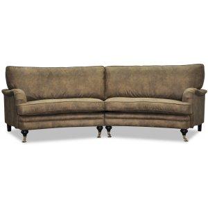 Howard 4-sits svängd soffa 259 cm - Range ecoläder -4-sits soffor - Soffor