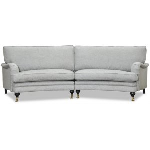 Howard 4-sits svängd soffa 295 cm - Grå -4-sits soffor - Soffor