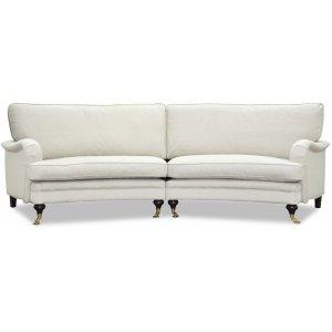 Howard 4-sits svängd soffa 295 cm - Ljusbeige -4-sits soffor - Soffor