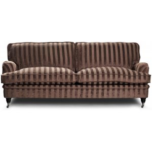 Howard Sir William 3-sits soffa (Dun) - Mobus Chocolate Stripe -3-sits soffor - Soffor