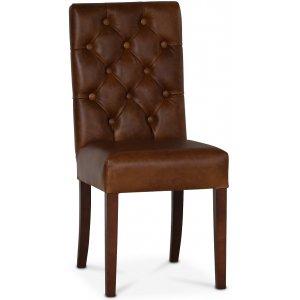 Lexington Milton stol - Brunt anilinläder / Bruna ben -Matstolar & Köksstolar - Stolar