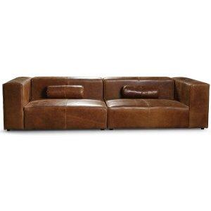 Madison 3-sits soffa 300 cm - Anilinläder cognac -3-sits soffor - Soffor
