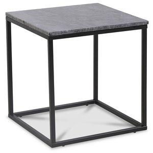Accent soffbord 50 - Grå marmor / Svart -Marmorbord - Bord