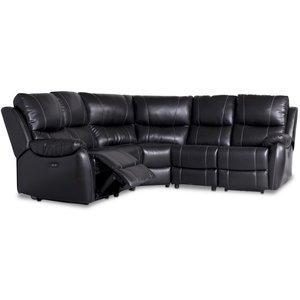 Enjoy Chicago recliner- hörnsoffa - 4-sits (el) i svart konstläder - Utgående modell -Biosoffor & Reclinersoffor - Soffor