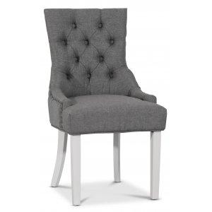 Decotique stol med antika nitar (rygghandtag) - Grå/Vit -Matstolar & Köksstolar - Stolar
