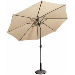 Parasoll Cali D300 cm i aluminium - Beige -Tillbehör och förvaring - Utemöbler