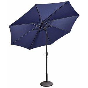 Parasoll Cali D300 cm i aluminium - Blå -Tillbehör och förvaring - Utemöbler