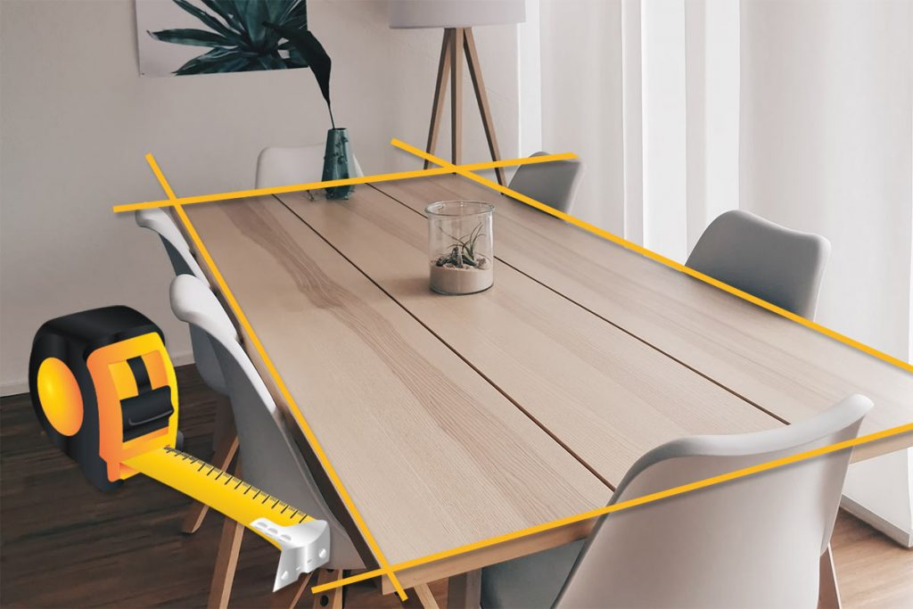 Välj rätt storlek på matbordet